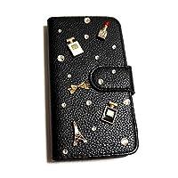 HUAWEI Mate 9(6) 手帳型 スマホケース コスメ+エッフェル塔 デコ [カードポケット/全面保護] ファーウェイ ハーウェイ シムフリー 女子 かわいい おしゃれ 全機種対応 スマホカバー diary-001 classic1 (A)