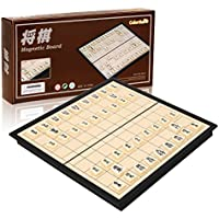 ColorGo 将棋セット 折りたたみ式 将棋盤 マグネット付き駒 コンパクト 旅行 日本将棋 こども 大人向け ボードゲーム