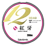 ダイワ(Daiwa) PEライン 紅牙 12ブレイド 200m 0.6号 13lb マルチカラー