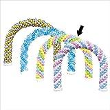 バルーンアーチセット ピンク×ライトブルー×グリーン ×イエロー イベント 福引 おまつり 販促 縁日