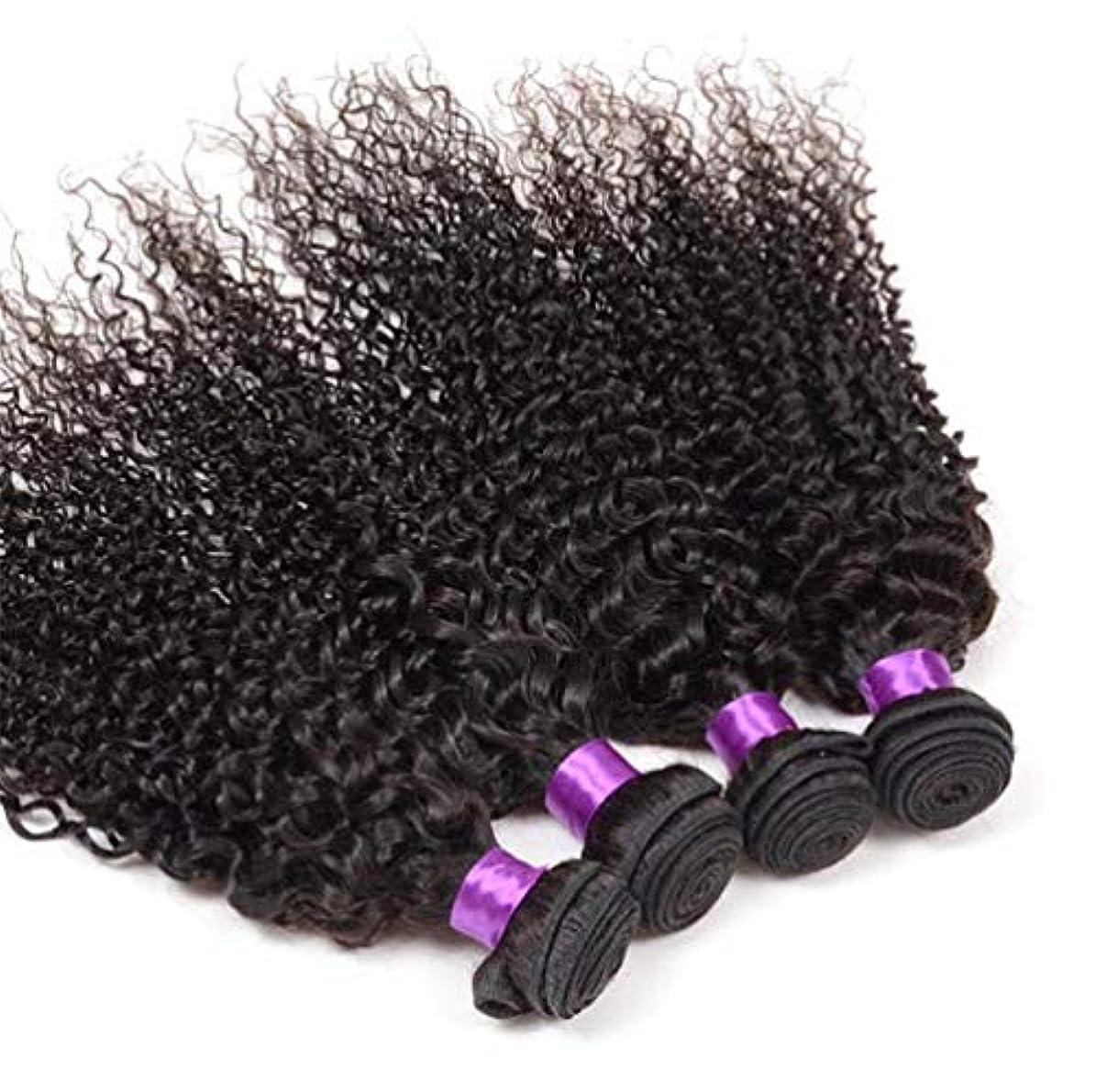 せっかちパニックレザー女性の髪の織り密度130%ブラジルの巻き毛1束ブラジルの人間の毛髪の束ブラジルの巻き毛の束ナチュラルカラー(100 +/- 5g)/ pc