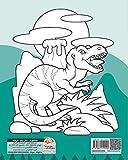 私の最初の塗り絵 - 恐竜 - My first coloring book of Dinosaurs: 4から12歳の子供のための塗り絵 -  25図 画像