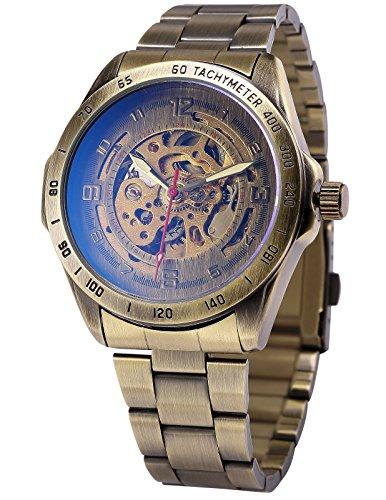 [エーエムピーエム24]AMPM24 レトロ ヴィンテージ ブロンズ 自動機械式 メンズ スケルトン アナログ 腕時計 PMW369
