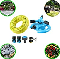 ガーデンスプリンクラー、度360自動スプリンクラー3アームウォータースプレー芝生灌漑ガーデン水灌漑,C5cm