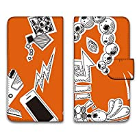 WHITENUTS ARROWS X LTE F-05D ケース 手帳型 UVプリント手帳 パターンC (cw-143) スマホケース アローズ エックス エルティーイー 手帳 カバー スマホカバー WN-PR1470280_M