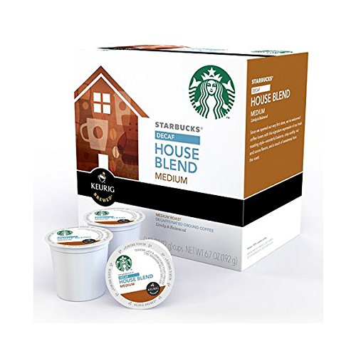 KEURIG K-Cup 【キューリグ用 K-Cup Starbucks デカフェ ハウスブレンドミティアム】【並行輸入商品】