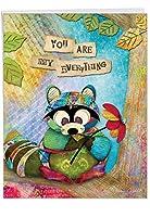 Forest FriendsウェディングユーモアGreeting Card 1 Jumbo Anniversary Card & Enve. (J2952FANG)