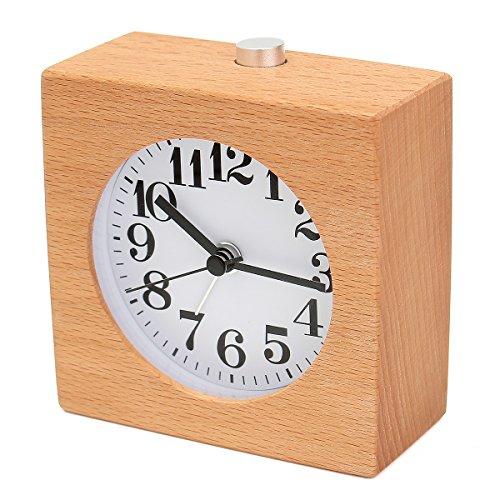 Baban 目覚まし時計 アナログ 置き時計 連続秒針 音無し...