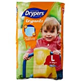Drypers Drypantz Diapers, L, 36 Count, (Pack of 4)