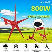 風力タービン発電機、ホームキャンプ街灯取付accessorieウインドコントローラー付き800W 5ブレード風力タービン発電機12V / 24Vオプション,12v