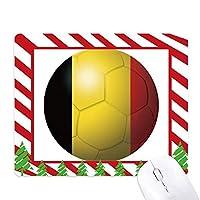 ベルギーの国旗のサッカー・ワールドカップ ゴムクリスマスキャンディマウスパッド