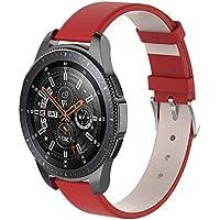 Watch Band,Cinhent Leather Wrist Straps Bracelet for Samsung Galaxy Watch 46mm