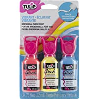Tulip Dimensional Fabric Paint Pack .75oz 3/Pkg-Vibrant (並行輸入品)