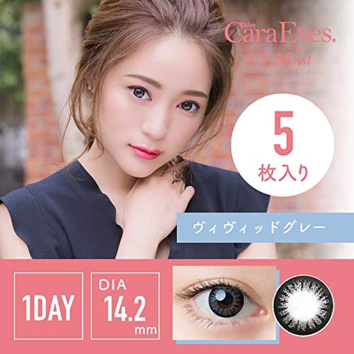 なめらかなお嬢キャッシュワンデーキャラアイUV&モイスト カラーシリーズ 5枚入 【ヴィヴィッドグレー】 -7.00