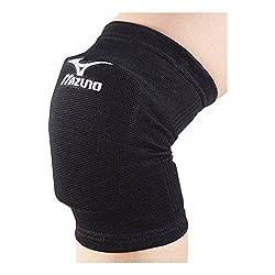 MIZUNO(ミズノ) バレーボール ジュニア用 膝 サポーター (2個セット) V2MY7001 ブラック×ホワイト F フリーサイズ