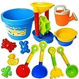 夢の空 子供 カラフルおでかけ砂場セット 砂浜おもちゃ 砂遊び  おもちゃセット 水遊びおもちゃ ビーチおもちゃ 知育玩具(13点セット)