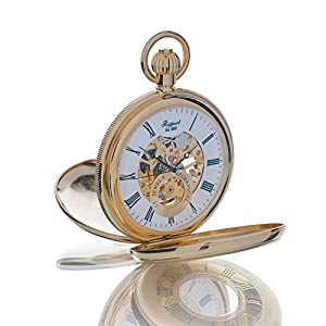 [ラポート]RAPPORT 懐中時計 機械式手巻 ダブルハンターケース スケルトン PW48 【正規輸入品】