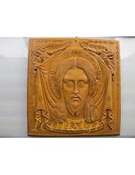 ハンドメイド 彫刻 アロマ ワックス アイコン 神聖なマンディリオンのアトス山からの祝福 122