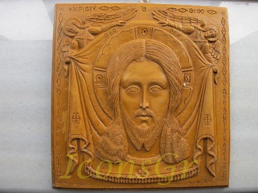 ルビーその供給ハンドメイド 彫刻 アロマ ワックス アイコン 神聖なマンディリオンのアトス山からの祝福 122