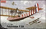 ローデン 1/72 英 フェリックス トゥ F.2A 飛行艇上翼機銃座付タイプ WW-I 072T047 プラモデル