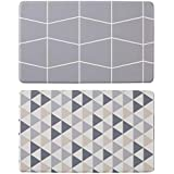 Davis & Waddell Reversible Anti-Fatigue Mat Reversible Triangle and Grid