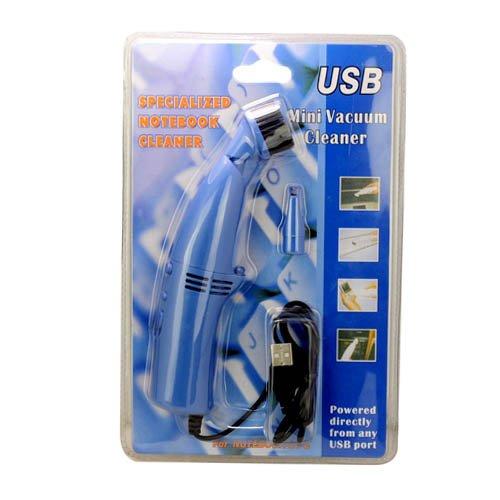 USBミニ掃除機PCコンピュータデスクキーボードcleaner-blue