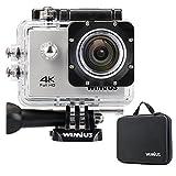 WIMIUS Wifi 4K(30FPS) ウェアラブルカメラ 2.0インチ液晶 (シルバー)