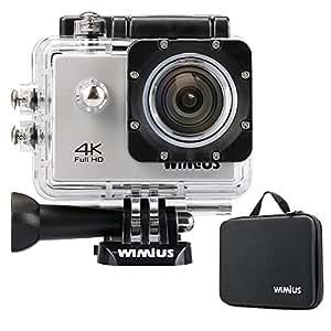 WIMIUS ウェアラブルカメラ Wifi 4K(30FPS) 2.0インチ液晶 スポーツアクションカメラ 多機能ビデオカメラ