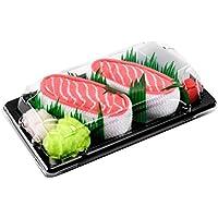 Rainbow Socks - Woman Man Sushi Socks Box Salmon - 1 Pair
