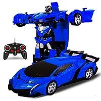 変形玩具車 車のおもちゃ ロボット 遠隔操作 変形することができる 子供の好きなギフト (ダークブルー) [並行輸入品]