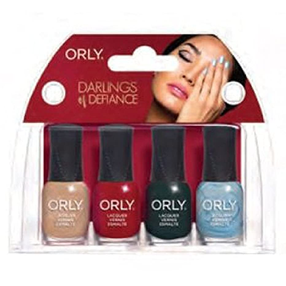 インフレーション溶接夕食を作るOrly Darlings Of Defiance - Mini 4pc Kit - 0.18oz/5.3ml Each - 28327