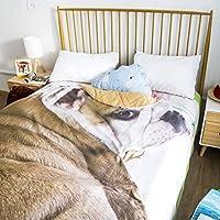 涼しい春と夏のキルト、マシン洗えるかわいい犬毛布夏のクールなキルト、クリエイティブ通気性の快適シングルダブル子供部屋エアコンキルトホームギフト (Design : 4, Size : XL)