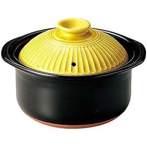萬古焼 銀峯陶器 菊花 ごはん土鍋 (山吹, 2合炊き)