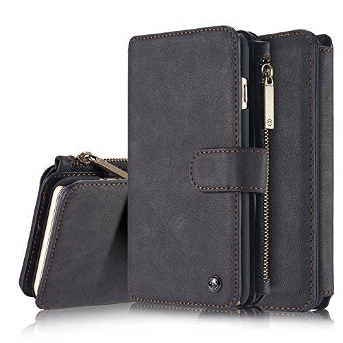 アイフォンXS Max 財布型 ケース、KingTo 分離式...