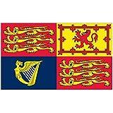 イギリス 王旗 1837年 女王の紋章 国章 90cmx150cm 特大フラッグ【ノーブランド品】