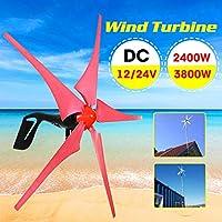 5ブレードオプションの永久磁石風力タービン発電機12V / 24V 2400W / 3800W風力発電機風力発電機キット,2400w,12V