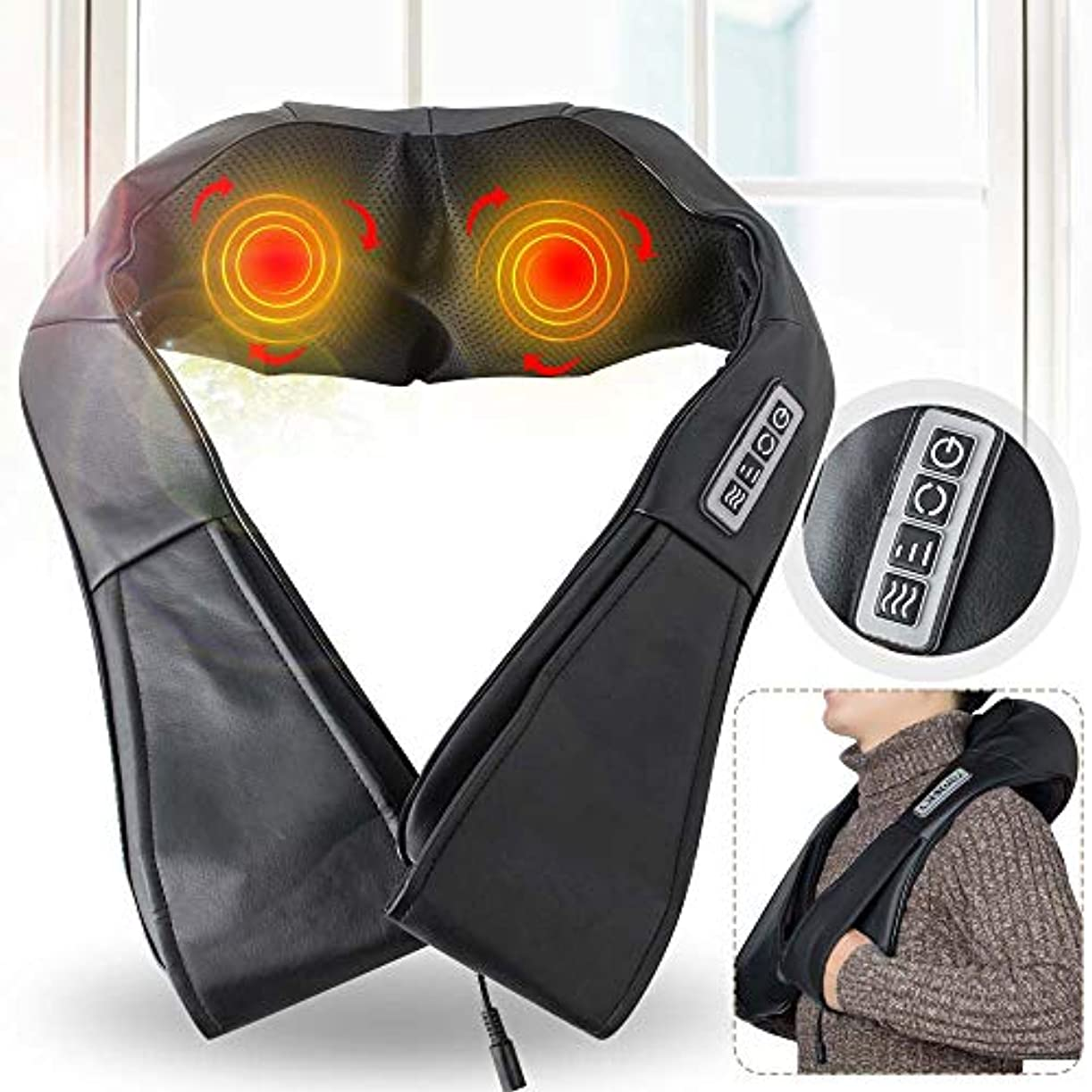 フォアタイプ家事をするビットDenshine Neck and Shoulder Massager, Electric Massage Machine Shoulder Neck Massage Shawl Car Home Kneading Neck...