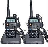 MINGCHANG 2台セット 無線機 トランシーバー 充電器付 災害 地震 対策 変換アダプター イヤホンマイク付 アンテナ付 UV-5R