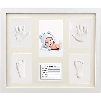 ベビーフレーム iSiLER 手形 足形 フォトフレーム 置き掛け兼用 無毒で安全 赤ちゃん 出産祝い 内祝い ベビー記念品