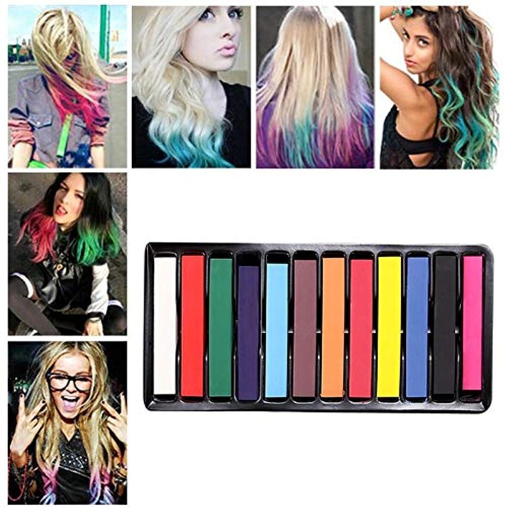 WTYD 美容ヘアツール 12色使い捨てヘアダイスティック