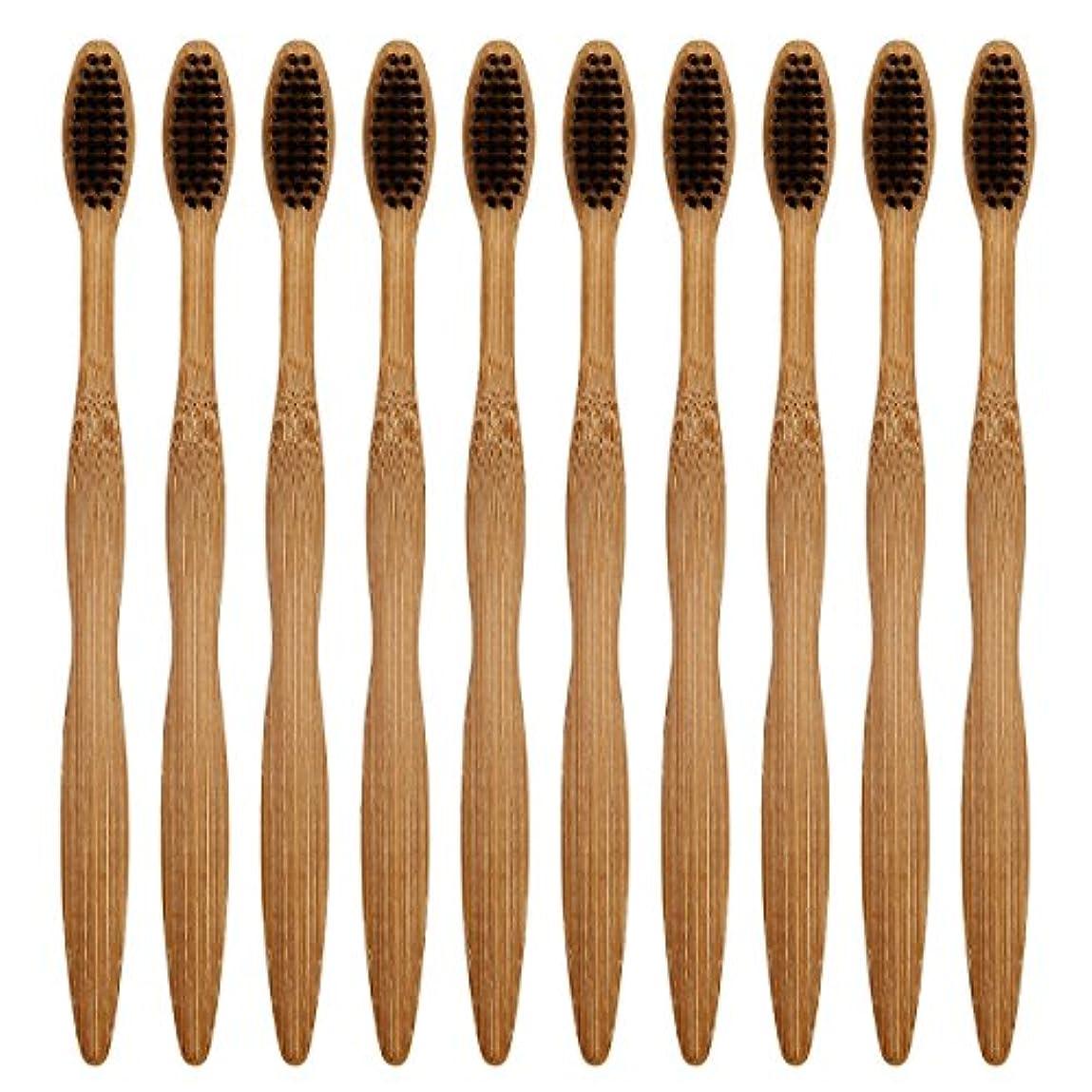 散るオーロック成功したCA Mode(JP) 竹製 歯ブラシ ナイロン毛 環境保護 大人用 ハブラシ 10本入