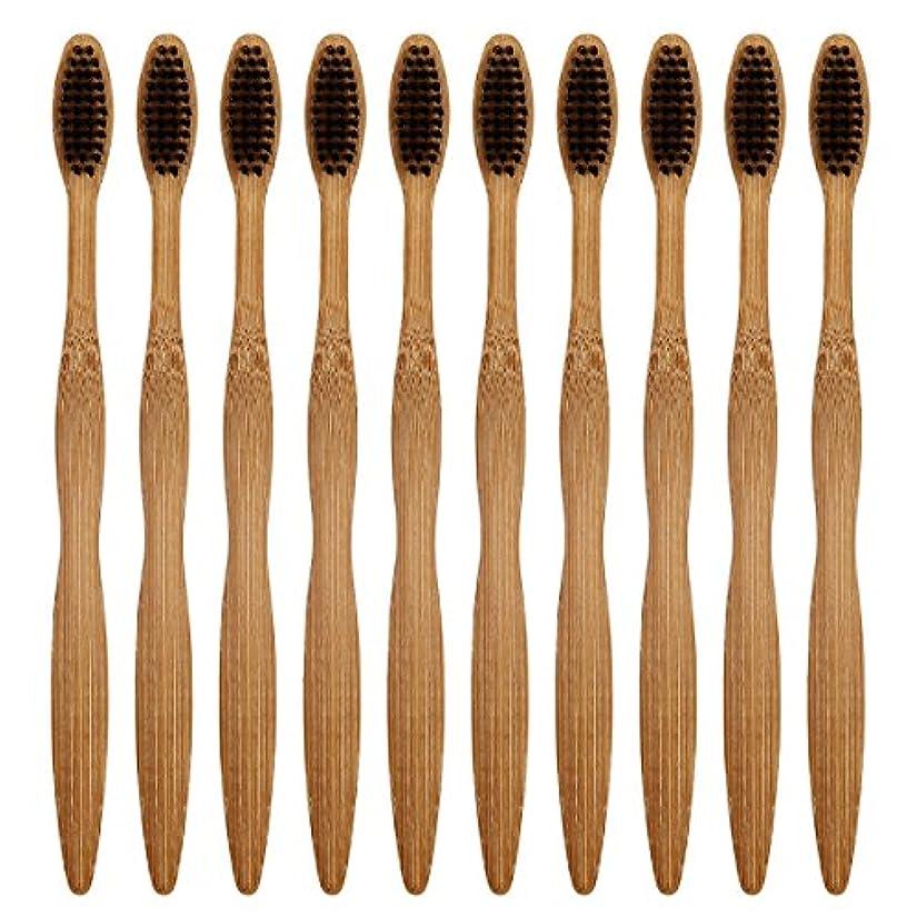請願者抑圧イベントCA Mode(JP) 竹製 歯ブラシ ナイロン毛 環境保護 大人用 ハブラシ 10本入