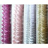 飾り付け インテリアデコレーション ペーパーガーランド 3.65m 4色x各2個 計8個セット (ピンク系)