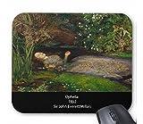 ミレー ジョン・エヴァレット・ミレー 『 オフィーリア( 1852 )』のマウスパッド:フォトパッド*(世界の名画シリーズ)