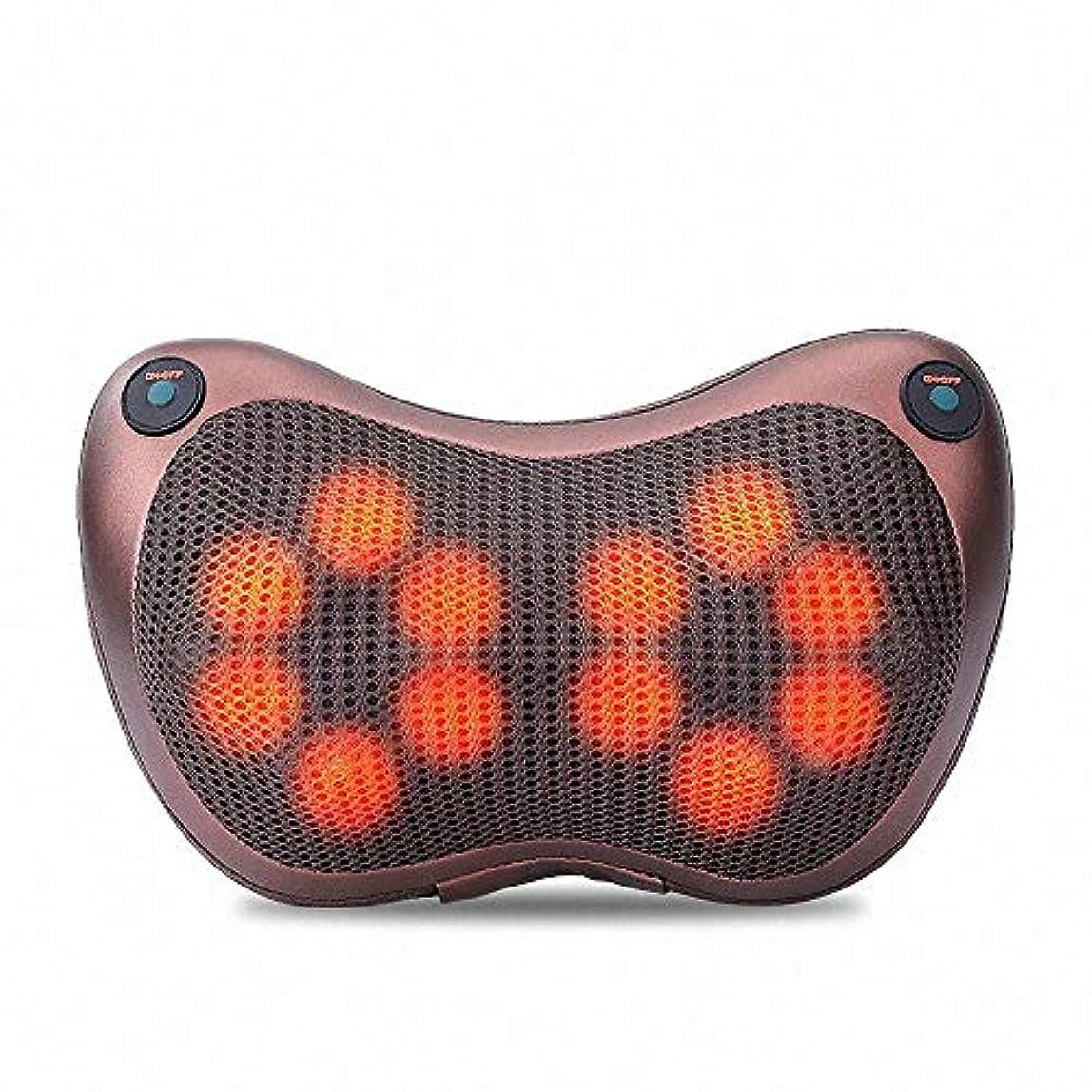 怪物批判的に気怠い12球マッサージ枕3D肩首マッサージャー正転&反転電動 赤外線療法ストレス解消マッサージクッション
