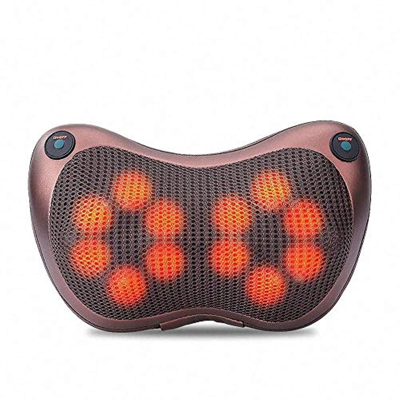 フェリーリーズあまりにも12球マッサージ枕3D肩首マッサージャー正転&反転電動 赤外線療法ストレス解消マッサージクッション