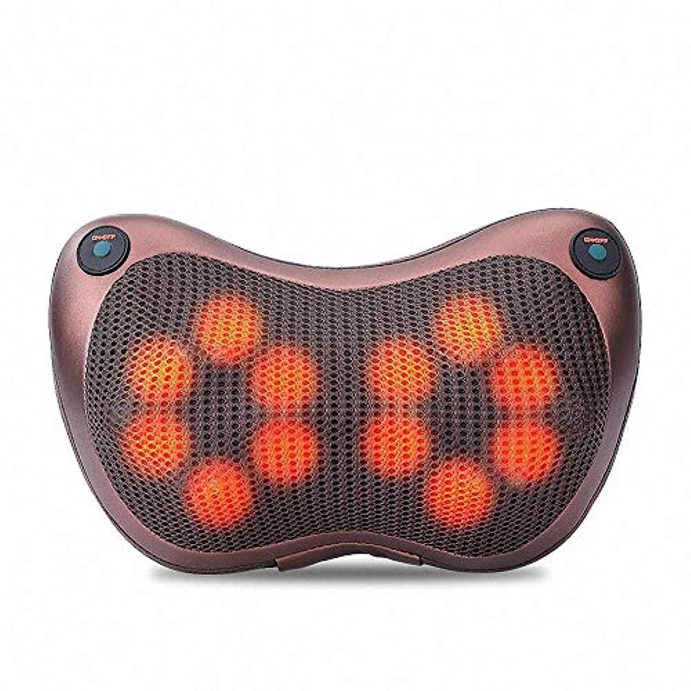 報奨金フレッシュロッカー12球マッサージ枕3D肩首マッサージャー正転&反転電動 赤外線療法ストレス解消マッサージクッション