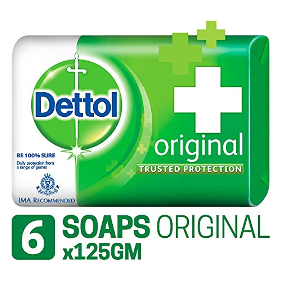 ひいきにする休眠エンジニアDettol Original Soap, 125g (Pack Of 6) SHIP FROM INDIA