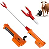 9000V Rechargeable Cattle Prod Prodder with 71cm Flexible Shaft - Essential Livestock Handling Equipment - Perfect for Beef C