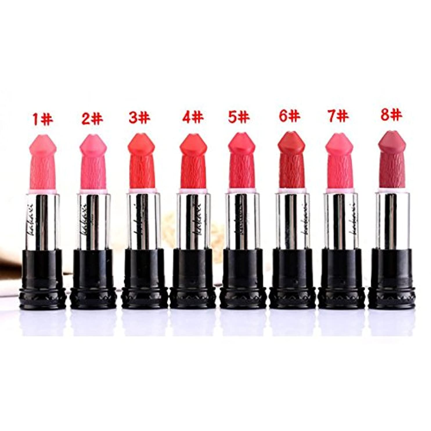 米ドルラッチクール(#1) 8 Colors Penis Shape Mushroom Long Lasting Moisture Cosmetic Lipstick Lips Makeup Lipstick